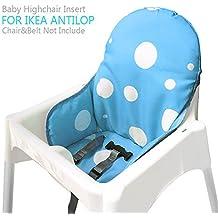 Ikea Antilop Trona Cojines y cojines para silla de Zama, Trona plegable para bebé Silla