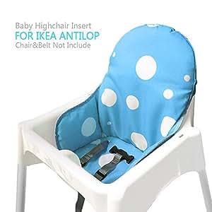 ikea antilop hochstuhl sitzbez ge kissen von zama waschbar faltbarer babyhochstuhl bezug ikea. Black Bedroom Furniture Sets. Home Design Ideas