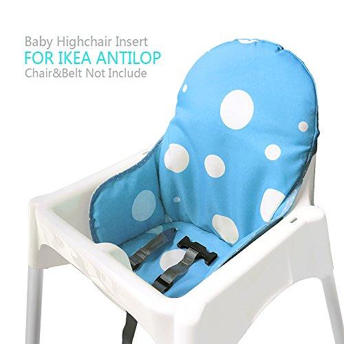 Ikea Antilop Hochstuhl Sitzbezüge & Kissen von Zama, Waschbar Faltbarer Babyhochstuhl Bezug Ikea Kinder Sitz Covers Stuhlkissen