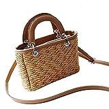 Sommer Strandtasche Damen Stroh Handtasche Umhängetasche Crossbody Tasche Für Strandreisen Und Den...