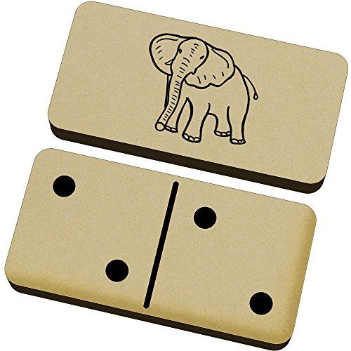 Azeeda 'Elefante' Domino Juego y Caja (DM00004749)