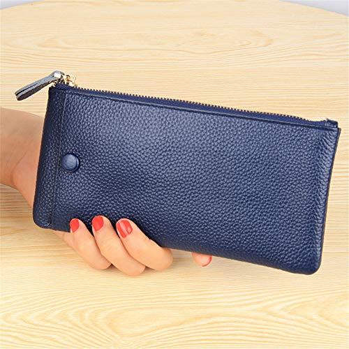 Zoueroih Damenbrieftasche Große Kapazität Wallets Frauen Lange Zip Wallet Clutch Bag Tote schlanke Shopping Wallet Geburtstagsgeschenk (Farbe : Royal Blue)