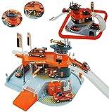 Unbekannt Set: 3-D Spielmatte Feuerwehr / Feuerwehrstation - Straße - Maßstab 1/64 - Verkehrszeichen + Zubehör + Hebebühne + Tankstelle + Auto / Fahrzeuge zum Spielen f..