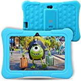 Dragon Touch Y88X Plus Kids Tablet 7 Inch Quad Core Android Pc Tablet Android 5.1 Lollipop Ips Screen 1G Ram 8G Rom Wifi Bluetooth Camera Games Unlocked Version Of Kidoz & Google Play Pre-Installed (With Blue Silicone Adjustable Stand Case)