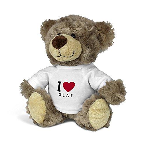 är mit Namen Olaf - Kuscheltier Teddy mit Design I Love ()