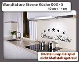 Wandtattoo Sterne Küche 003 - Größe: S - 40cm x 14cm - 24 mögliche Farben