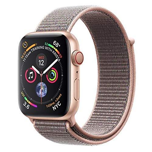 AppleWatch Series4 (GPS+Cellular) con caja de 44mm de aluminio en oro y correa Loop deportiva rosa arena