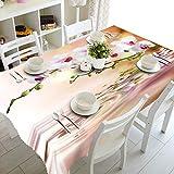 REQATABLECLOTH Tischdecke Gartentischdecken Orchidee Tischdecke für Gartentische abwischen 120x140cm