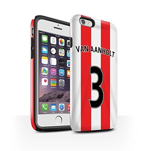 Offiziell Sunderland AFC Hülle / Glanz Harten Stoßfest Case für Apple iPhone 6 / Pack 24pcs Muster / SAFC Trikot Home 15/16 Kollektion Van Aanholt
