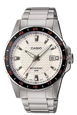 CASIO Quarz MTP-1290D-7AVEF - Reloj cuarzo de caballero, correa de acero inoxidable, color gris