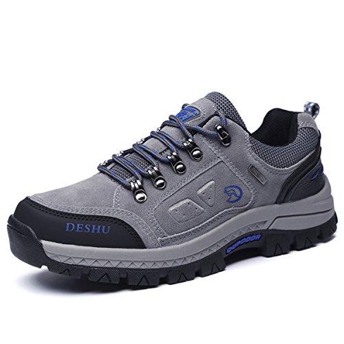 Zapatos de senderismo, Gracosy Impermeable Hombres zapatos de montaña para paseos Viajes Zapatillas de deporte al aire libre zapatos de trekking botas de trekking de cuero de escalada