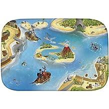 """Casa de Niños (hov0p) """"pirata Ultra suave alfombra, multicolor, 130x 180x 0,76cm"""