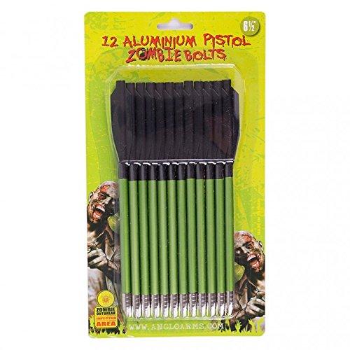 BKL1® 12 Aluminiumpfeile Pistolenarmbrust Zombiegrün Bolzen Pfeile