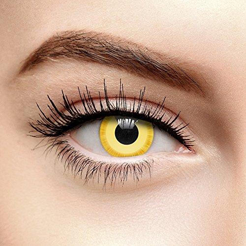 Avatar Farbige Kontaktlinsen Ohne Stärke Gelb (30 Tage)
