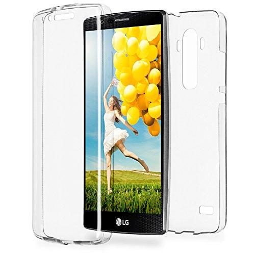 Double Case für LG G4 | Silikon Hülle Transparent Beidseitiger Schutz | Dünne 360° Full Handy Tasche von OneFlow | Back Cover in Farblos