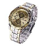 Herren Armbanduhr Gold Metallarmband Quartz Automatikuhr Edelstahl Mechanische Uhr