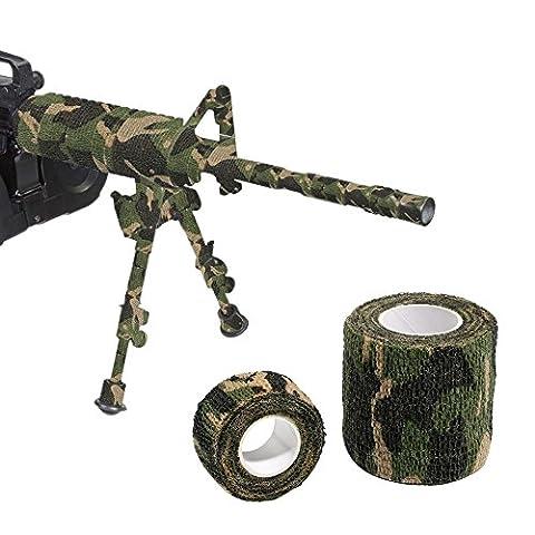 Autocollant Camouflage Wrap 2rouleaux de ruban adhésif Motif camouflage militaire