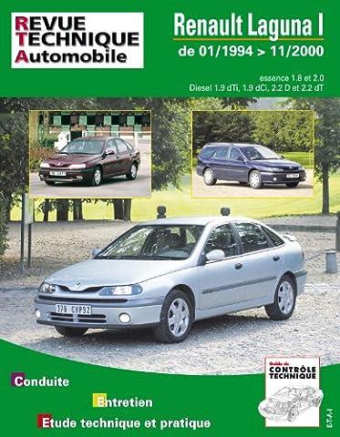 Rta 123.1 : Renault laguna 1 et 2 essence et diesel du 01/94 au 11/2000