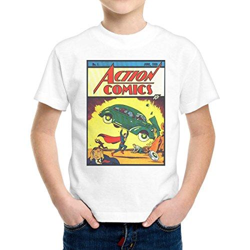 T-Shirt Bambino Ragazzo Superman Vintage Fumetto Old -