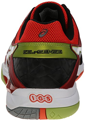 Asics Gel-Sensei 6 Hommes Synthétique Baskets Cherry Tomato-White-Black
