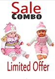 #3: Play Design Baby Doll & Laughing Baby Boy 54 cm - Both Big Model Stuffed Doll Soft Toy Combo Offer( Colour May Vary)