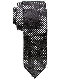 HUGO BOSS LUJO Cuadrado Punto Corbata, gris, lila hecho en Italia 100% SEDA