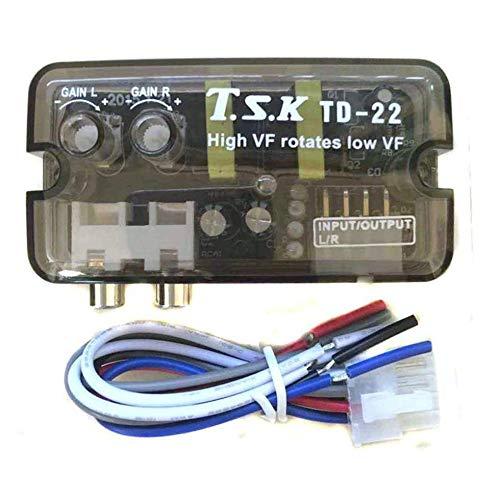 Sen-Sen 12V TD-22 Auto Fahrzeug Stereo Kanal High to Low Verstärker Delayer Car Audio schwarz Installation Auto Stereo