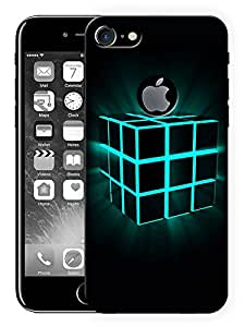 "Ulta Anda Box Cube Glowing Printed Designer Mobile Back Cover For ""Apple Iphone 7 Logo Cut"" (3D, Matte Finish, Premium Quality, Protective Snap On Slim Hard Phone Case, Multi Color)"