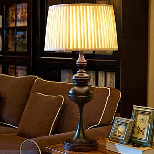 BBSLT Lampade da tavolo in ferro battuto nero stile country americano home lampada decorazione lampada campione hotel camera-camera da letto camera
