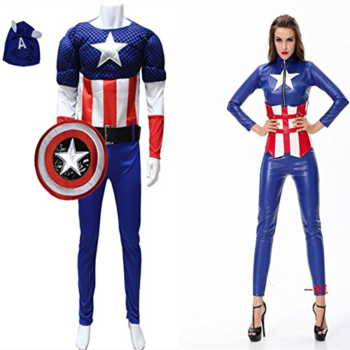 Gorgeous Adult Halloween-Kostüm Cosplay Avengers Captain America Anzug Krieger Kostüme ds , female (Sexy Captain Kostüme)
