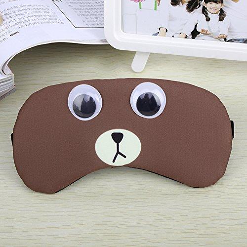 ke verstellbar Cute cartoon100% Baumwolle Augenklappe Augenmaske Reisen Big Sleep Patch atmungsaktiv lindern Müdigkeit Nerven Schutz(Coffee) (Gurke-kostüm Für Kinder)