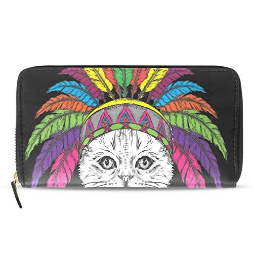 Emoya - Cartera de Piel para Mujer, diseño de águila atrapasueños con Ranuras para Tarjetas de crédito