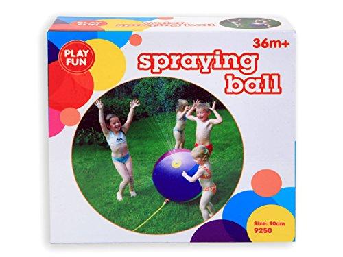 lash aufblasbarer Ball Spiel Sprinkler Strandball Wasserspielzeug Spielzeug für den Garten - 90 cm Regenbogen Farben 79250 Outdoor ()