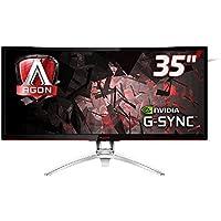 AOC AGON AG352UCG 88,9 cm (35 Zoll) Curved Monitor (HDMI, USB 3.0, 4ms Reaktionszeit, DisplayPort, 3440 x 1440, 100 Hz, Nvidia G-Sync) schwarz/rot