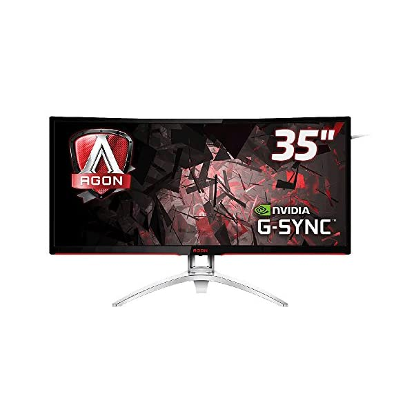 AOC AG352UCG 35-Inch Widescreen MVA LED Multimedia Curved Monitor – Black 51uH3WVhzyL