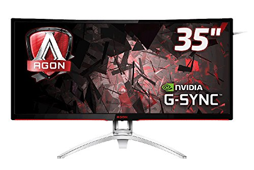 AOC AG352UCG 35-Inch Widescreen MVA LED Multimedia Curved Monitor - Black/Silver