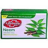 Lifebuoy Neem and Aloe Vera 100% Better Skin Protection Soap Bar 100g