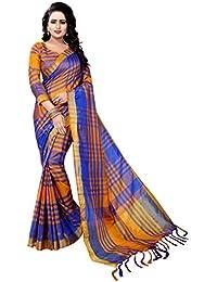 Vrati Fashion Cotton Silk Saree With Blouse Piece (women Saree-ekkat-01-3_Multi-Coloured_Free Size)