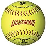 DeMarini Lightning ASA Series Slowpitch Leather Softball (12-Pack), 11-Inch, Optic Yellow