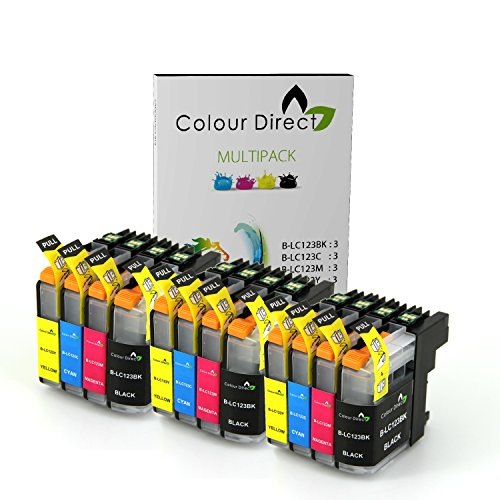 12-xl-colourdirect-lc123-lc121-chipped-ink-cartridges-for-brother-dcp-j132w-dcp-j152w-dcp-j552dw-mfc