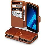 Galaxy A3 2017 Case, Terrapin [ECHT LEDER] Brieftasche Case Hülle mit Kartenfächer und Bargeld für Samsung Galaxy A3 2017 Hülle Cognac