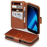 Terrapin, Kompatibel mit Samsung A3 2017 Hülle, [ECHT LEDER] Brieftasche Case Tasche mit Kartenfächer und Bargeld - Cognac