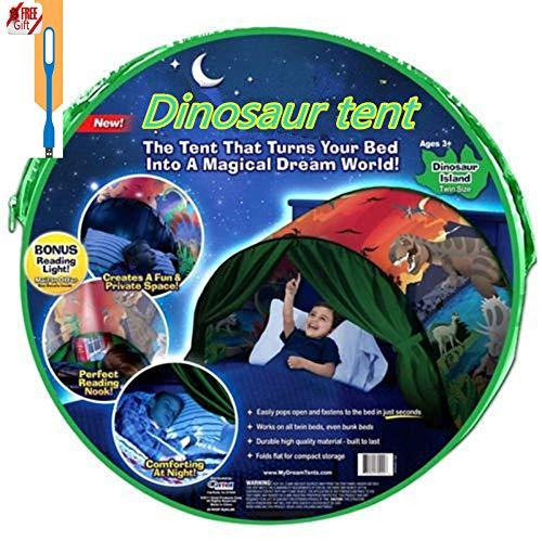 Meister der Familie - Europa Traumzelt Bettzelt Kinder Zelt Kinderzelt Indoor Zelt Weihnachtsgeschenk für Kinder (Dinosaurier)
