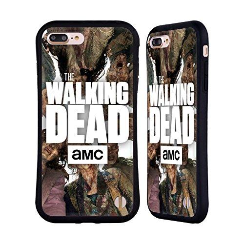 Officiel AMC The Walking Dead Groupe Logo Étui Coque Hybride pour Apple iPhone 7 Plus, Coques iphone