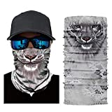 Hatime Neck Gaiter, Seamless Bandana 3D Animal Neck Gaiter Multifunction Sunscreen Scarf Mask for Cycling Fishing Running Festival Funny Sunscreen (2)
