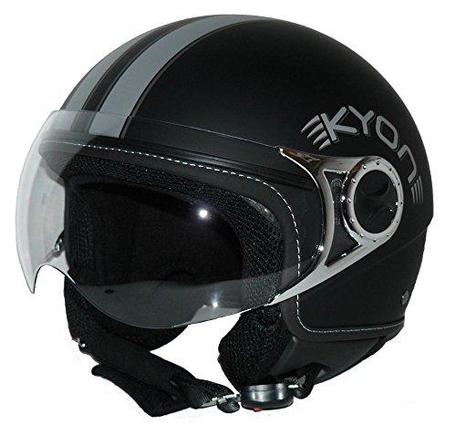 Protectwear Motocicleta Casco Jet con 2 visores mate negro H710 Tamaño M