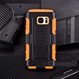 Cocomii Robot Armor Galaxy S7 Coque Nouveau [Robuste] Supérieure Étui Clip De Ceinture Support Antichoc Couverture [Militaire Défenseur] Corps Entier Case Étui Housse for Samsung Galaxy S7 (R.Orange)