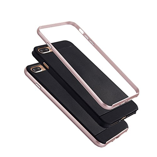 Hülle für Apple iPhone 8 4.7 Zoll Smartphone Schutz Hardcase Carbon-Optik Grau