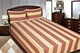 Adithya Delux Beige Double Bed Sheet