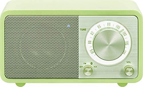 Sangean WR-7 tragbares Desktop-Radio (FM-RDS-Tuner, Bluetooth, AUX-In, integrierter Lautsprecher, Akkubetrieben(aufladbar)) , Grün